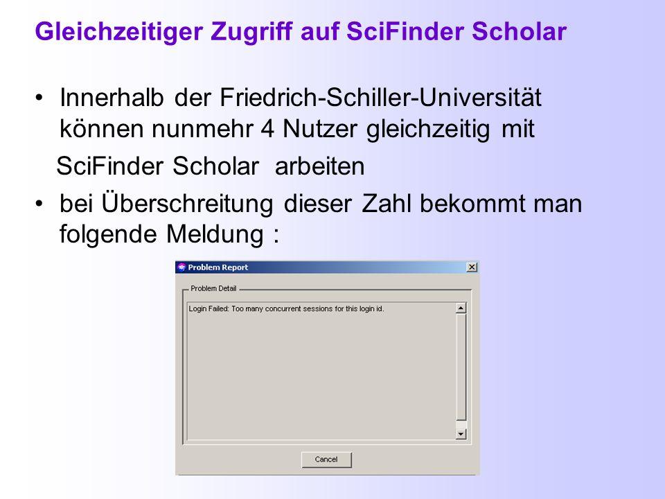 Start von SciFinder Scholar