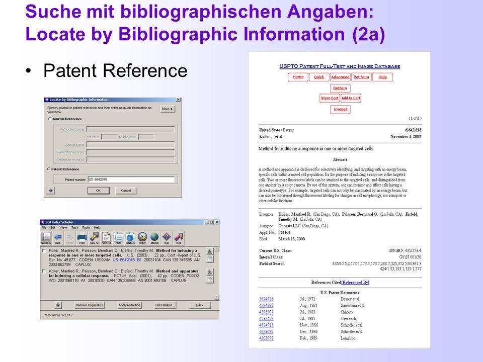 Suche mit bibliographischen Angaben: Locate by Bibliographic Information Journal Reference