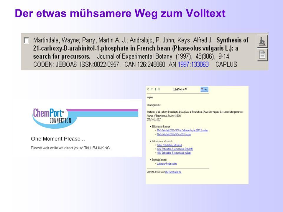 Inhouse Library – verschiedene Wege zum Volltext 1. 2. 3.