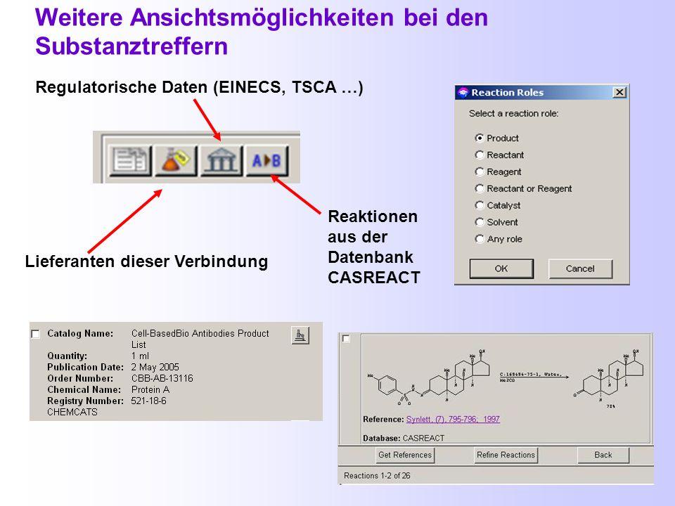 Textstellenbeispiel Suche über Locate Locate Substances Substance Identifier Registry-Nummer des Dihydrotestosterons P = preparation