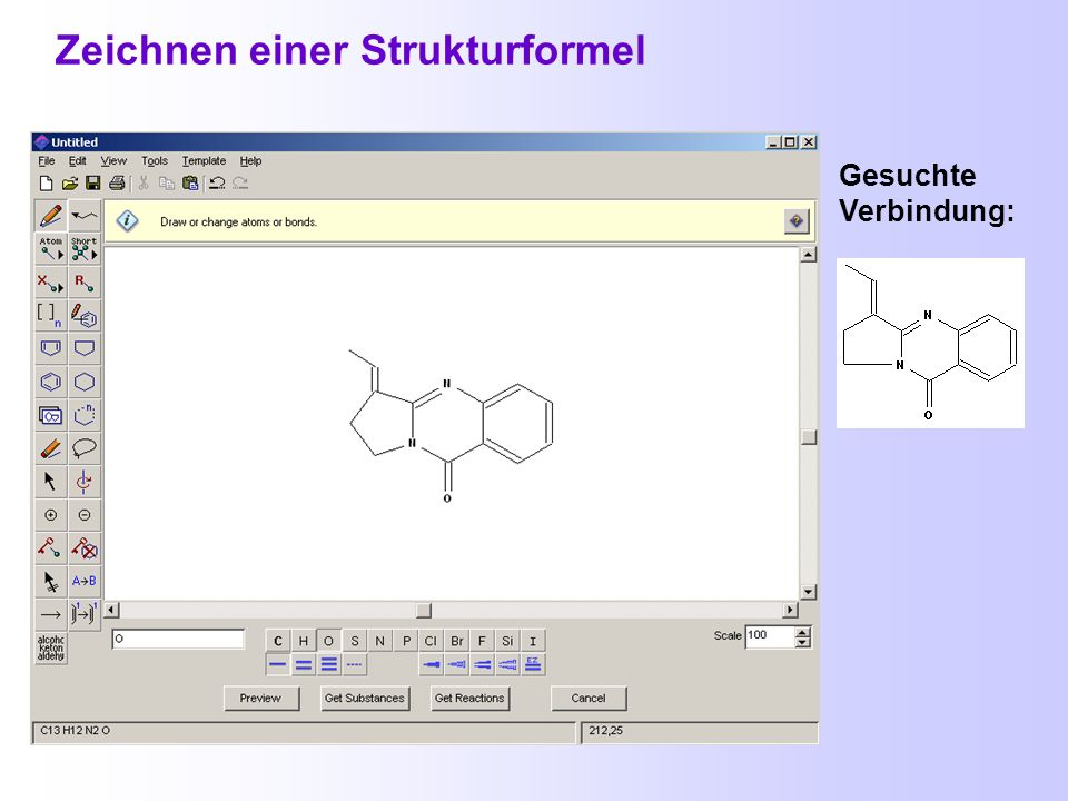Hilfen beim Zeichnen von Strukturen Stereobindungen Sich wiederholende Gruppen Ringe mit definierten Substituenten an beliebiger Position