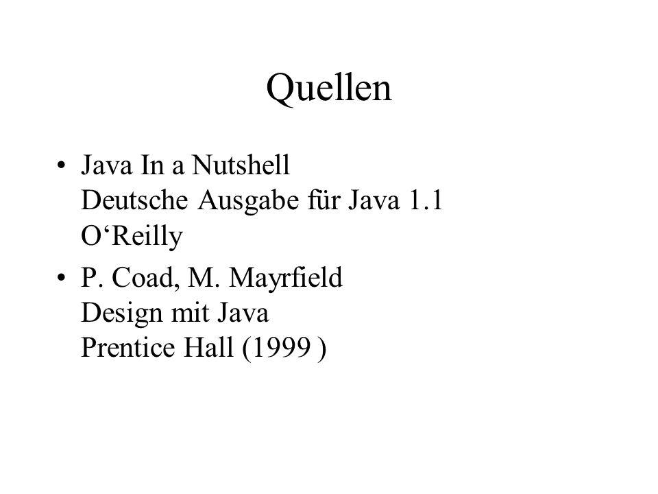 Quellen Java In a Nutshell Deutsche Ausgabe für Java 1.1 OReilly P.