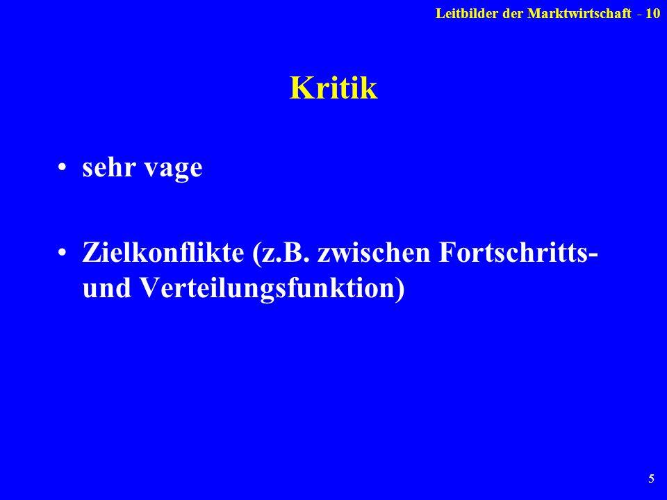 5 Kritik sehr vage Zielkonflikte (z.B.