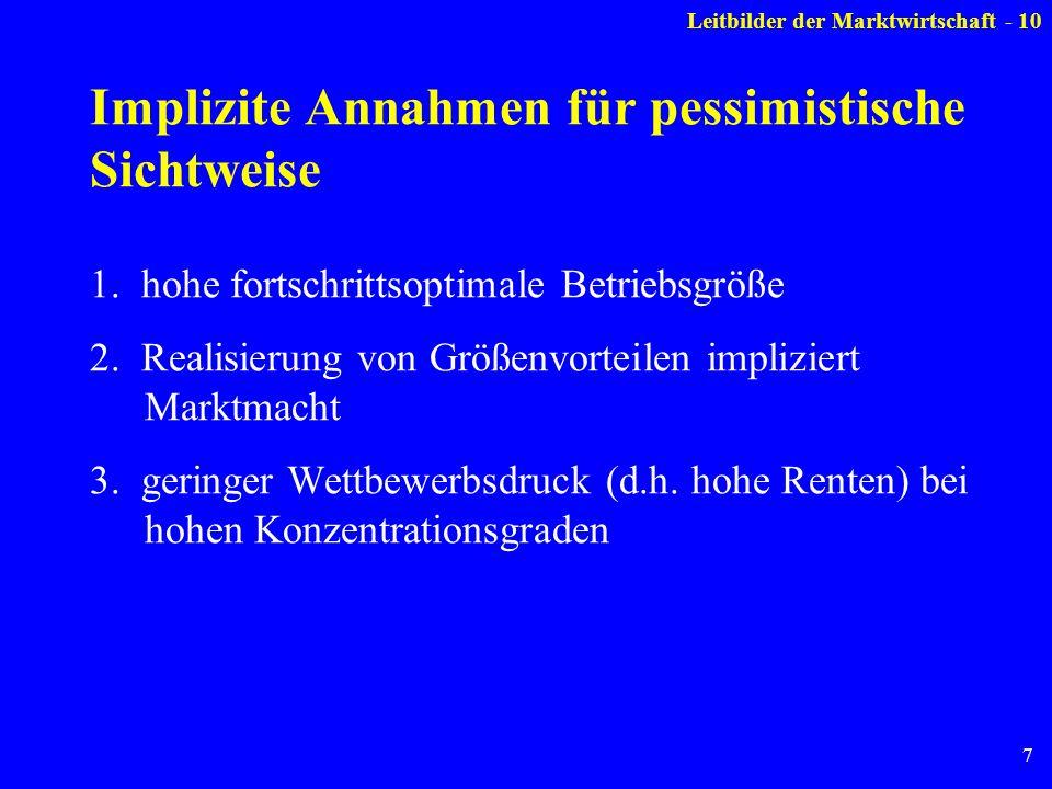 7 Implizite Annahmen für pessimistische Sichtweise 1.