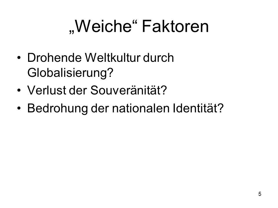 5 Weiche Faktoren Drohende Weltkultur durch Globalisierung.