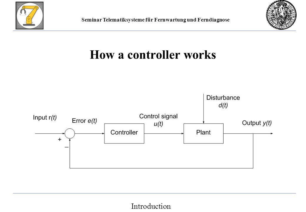 Seminar Telematiksysteme für Fernwartung und Ferndiagnose How a controller works Introduction