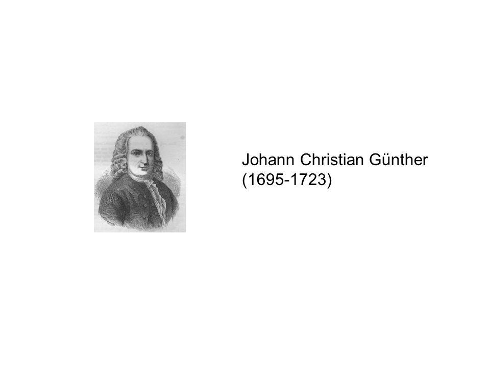 Johann Christian Günther (1695-1723)