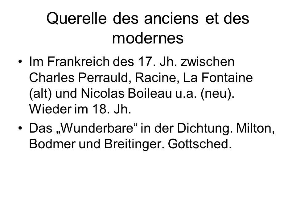 Querelle des anciens et des modernes Im Frankreich des 17.