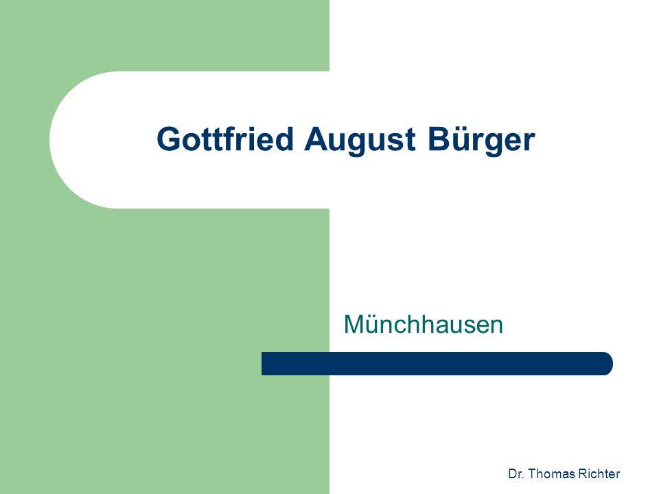 Dr. Thomas Richter Gottfried August Bürger Münchhausen