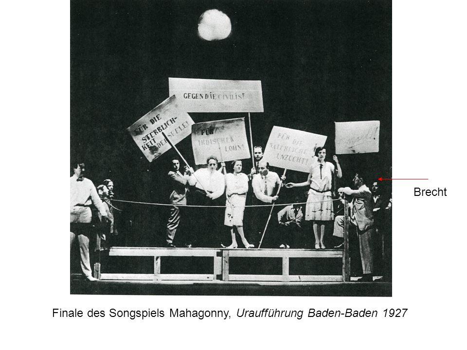 Finale des Songspiels Mahagonny, Uraufführung Baden-Baden 1927 Brecht