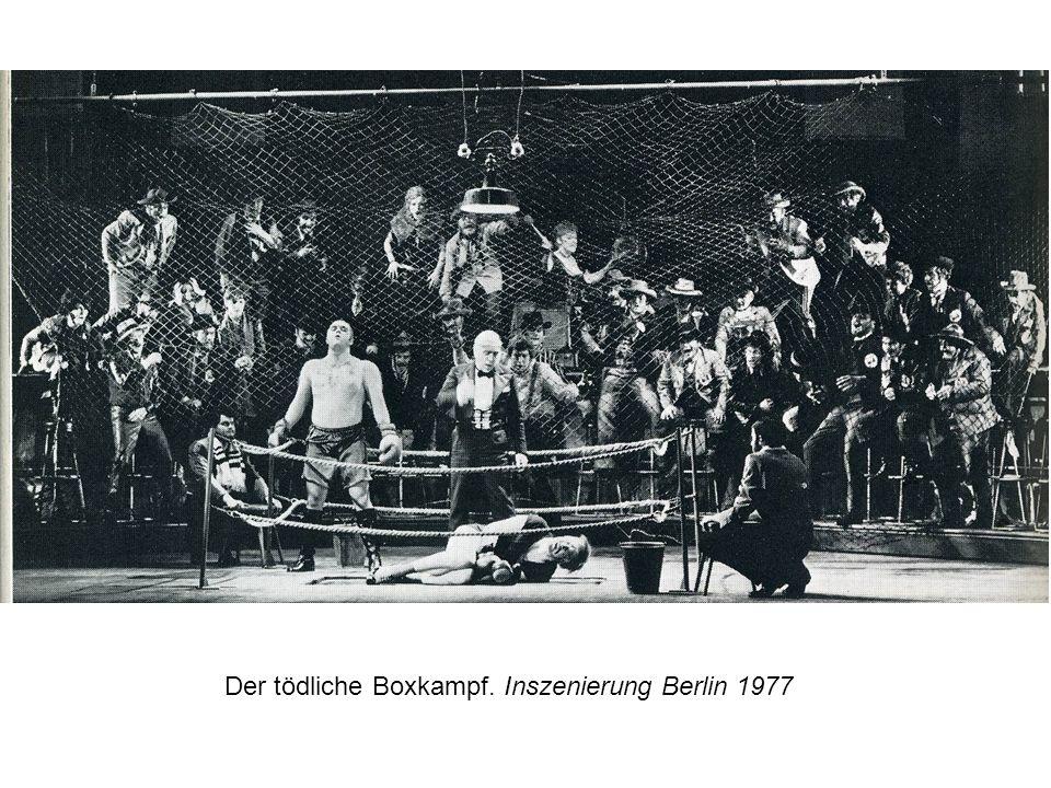 Der tödliche Boxkampf. Inszenierung Berlin 1977