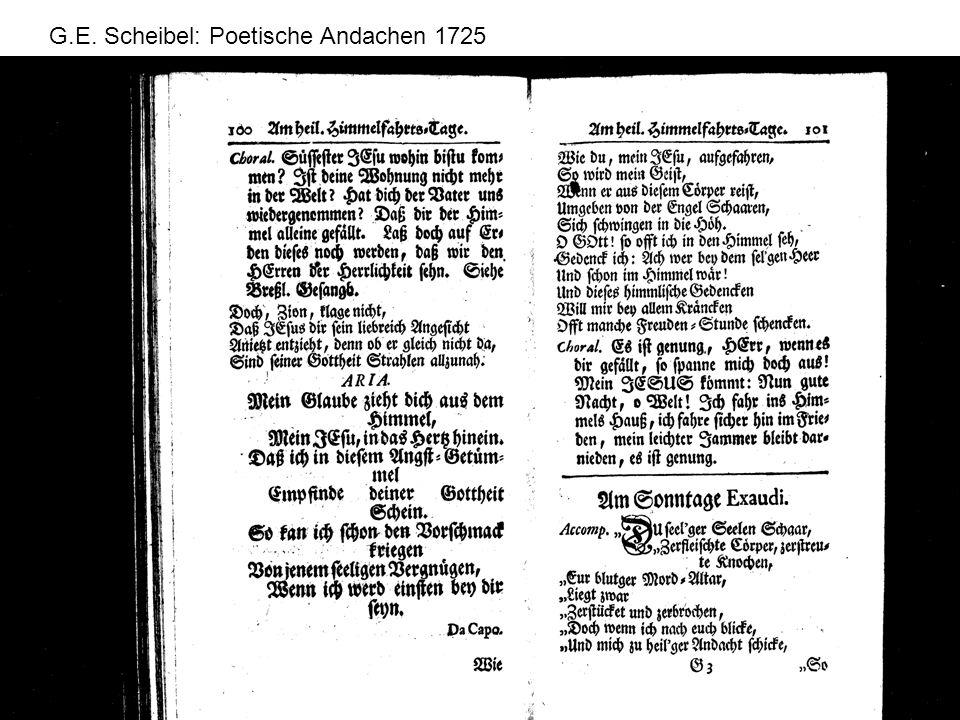 G.E. Scheibel: Poetische Andachen 1725