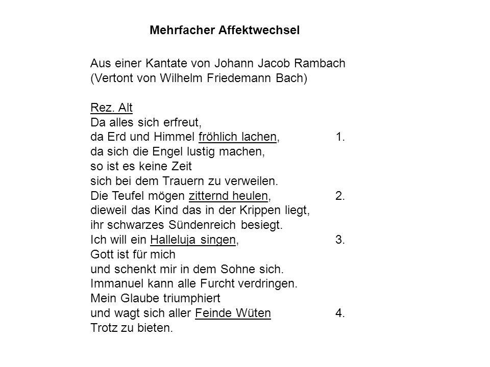 Aus einer Kantate von Johann Jacob Rambach (Vertont von Wilhelm Friedemann Bach) Rez. Alt Da alles sich erfreut, da Erd und Himmel fröhlich lachen, 1.