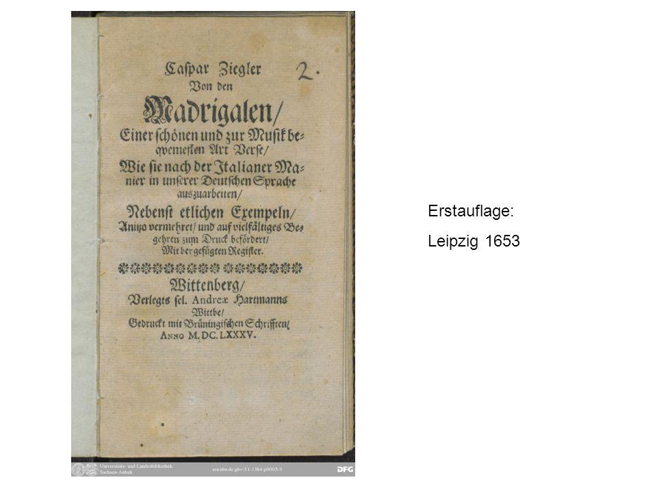 Ziegler, Beginn der Beispielsammlung