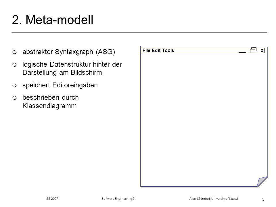 SS 2007 Software Engineering 2 Albert Zündorf, University of Kassel 46 elementare Konsistenzanalysen: m Stellen und Transitionen eindeutig benannt m jede Transition hat mind.