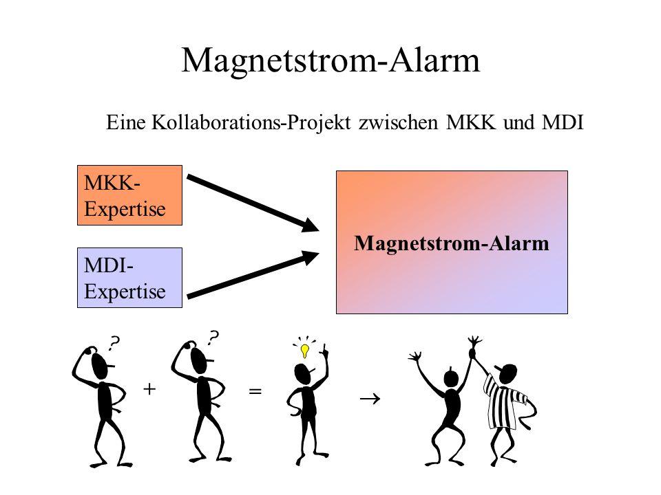 Magnetstrom-Alarm Eine Kollaborations-Projekt zwischen MKK und MDI MKK- Expertise MDI- Expertise Magnetstrom-Alarm + =