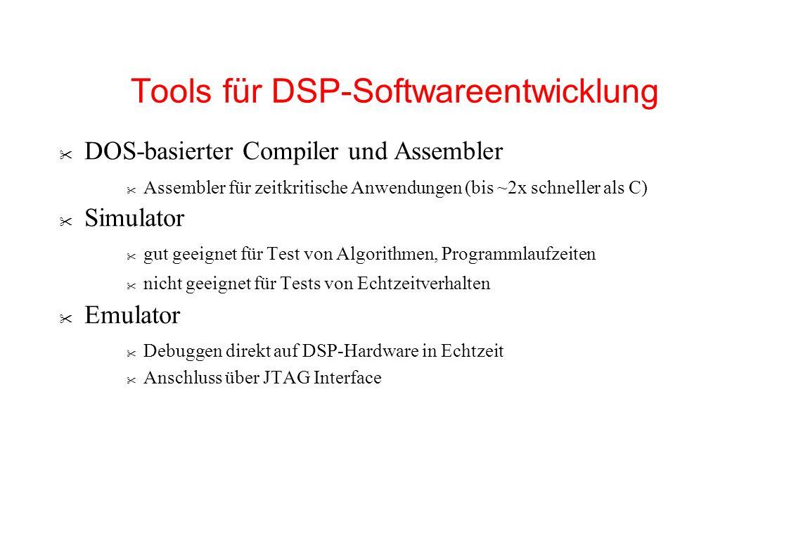 Tools für DSP-Softwareentwicklung