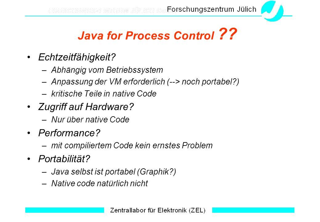 Java for Process Control . Echtzeitfähigkeit.