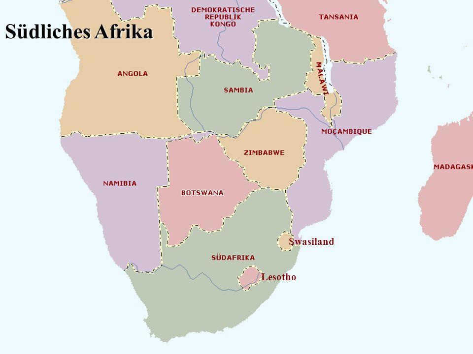 Lesotho Swasiland Südliches Afrika