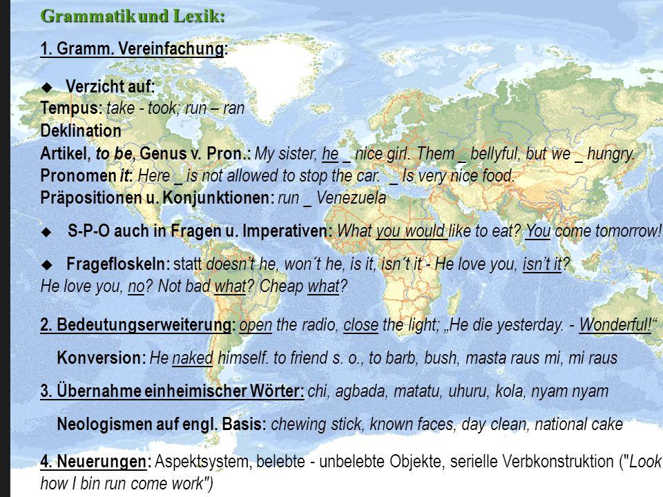 Black English 1.Theorien -Polygenese -Mängel -Keine afrikanischen Spuren (H.L.