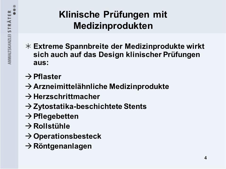 15 Klinische Prüfung bei einwilligungs- unfähigen Patienten (§ 21 MPG) Notfallsituationen Institut der mutmaßlichen Einwilligung in § 21 Nr.