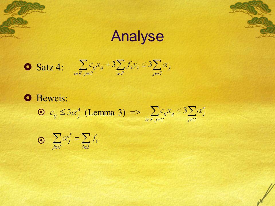 Analyse Satz 4: Beweis: (Lemma 3) =>