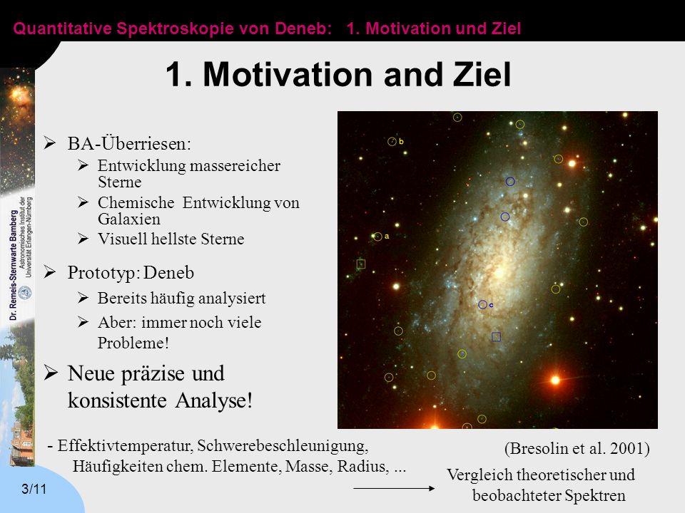 Quantitative Spektroskopie von Deneb: 3/11 1.