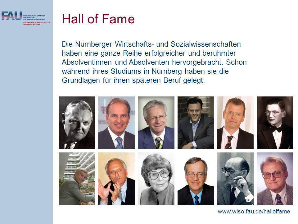 Die Nürnberger Wirtschafts- und Sozialwissenschaften haben eine ganze Reihe erfolgreicher und berühmter Absolventinnen und Absolventen hervorgebracht.