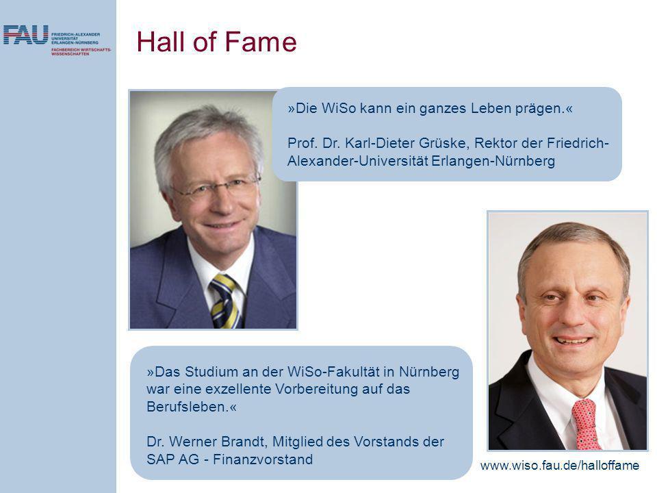 »Das Studium an der WiSo-Fakultät in Nürnberg war eine exzellente Vorbereitung auf das Berufsleben.« Dr.