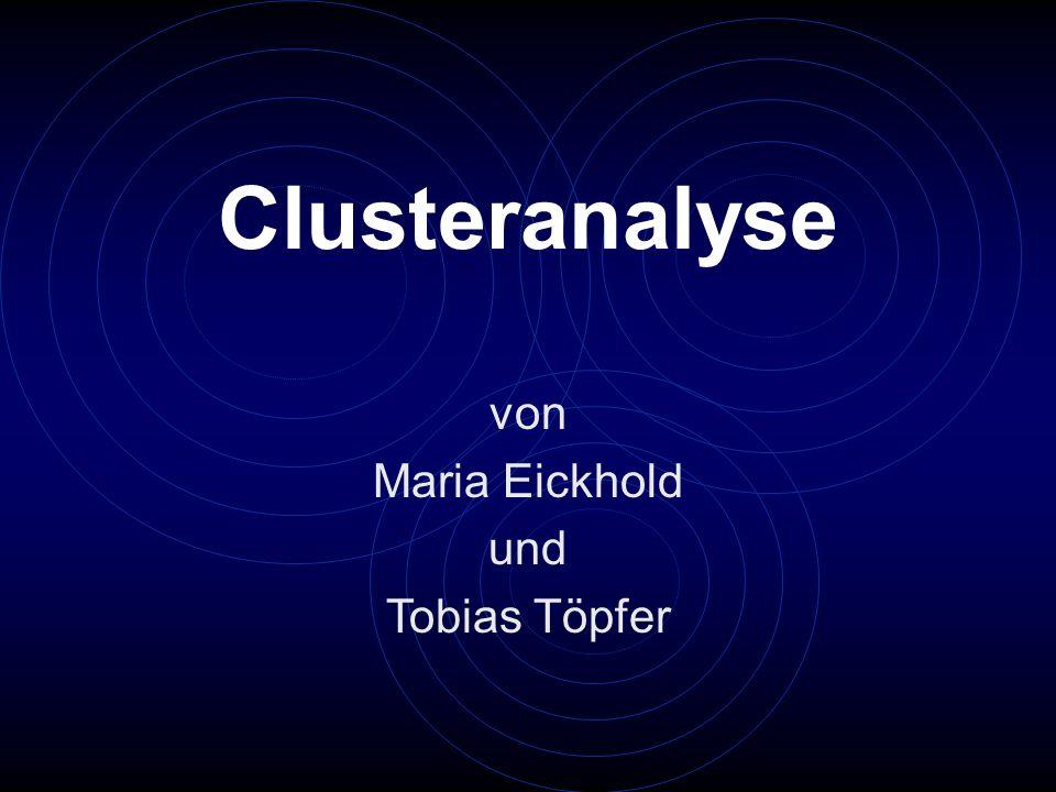 Clusteranalyse von Maria Eickhold und Tobias Töpfer