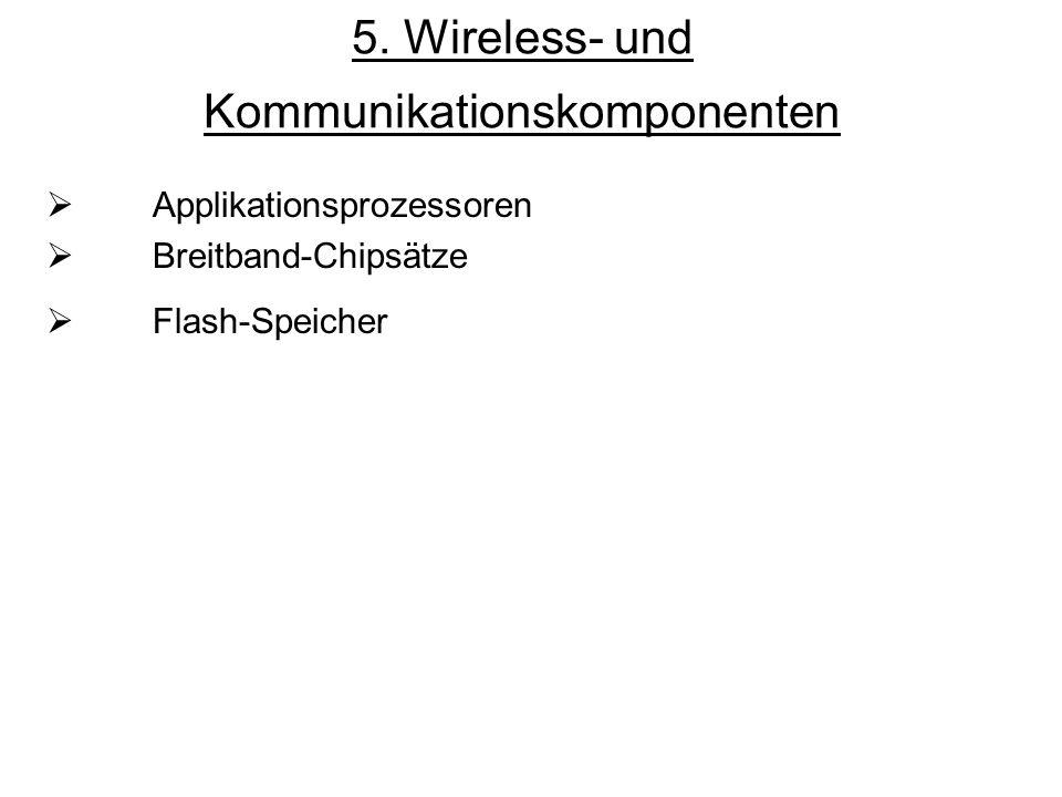 5. Wireless- und Kommunikationskomponenten Applikationsprozessoren Breitband-Chipsätze Flash-Speicher