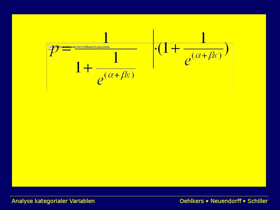 Analyse kategorialer VariablenOehlkers Neuendorff Schiller