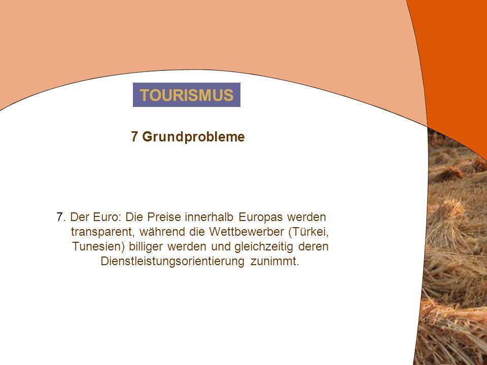 TOURISMUS 7 Grundprobleme 6. Visa-Probleme für Angehörige von Dritt-Staaten insbesondere Russland