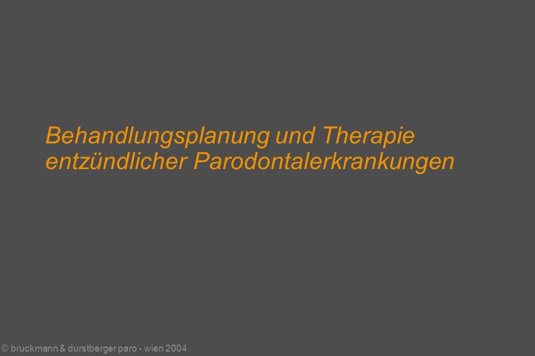 © bruckmann & durstberger paro - wien 2004 Behandlungsplanung und Therapie entzündlicher Parodontalerkrankungen