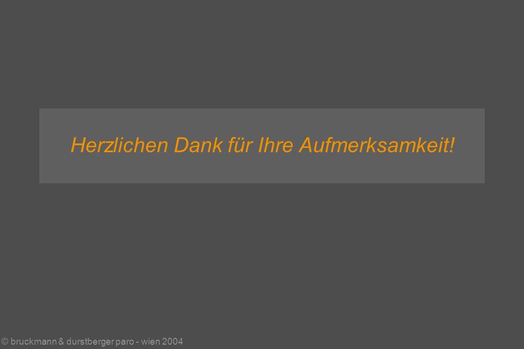 © bruckmann & durstberger paro - wien 2004 Herzlichen Dank für Ihre Aufmerksamkeit!