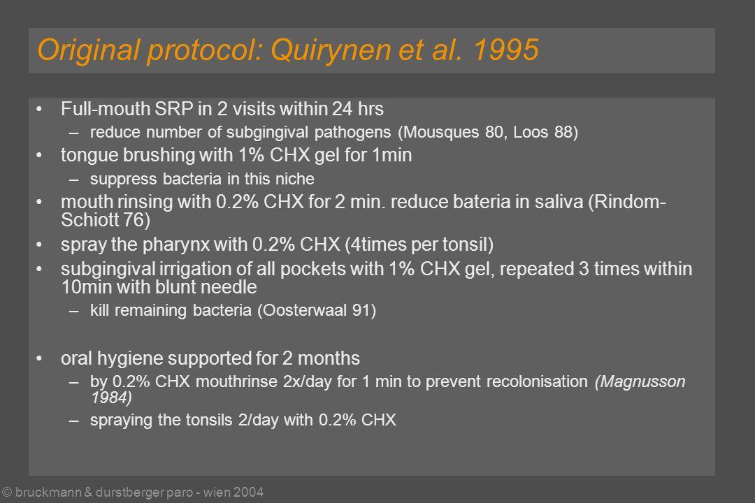 © bruckmann & durstberger paro - wien 2004 Original protocol: Quirynen et al.