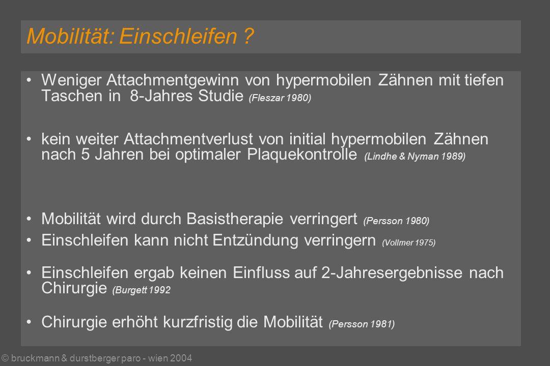© bruckmann & durstberger paro - wien 2004 Mobilität: Einschleifen .