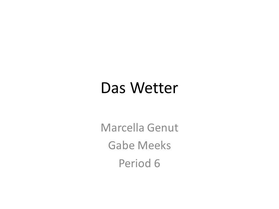 Das Wetter Marcella Genut Gabe Meeks Period 6