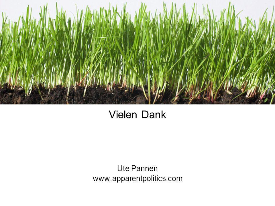 Vielen Dank Ute Pannen www.apparentpolitics.com