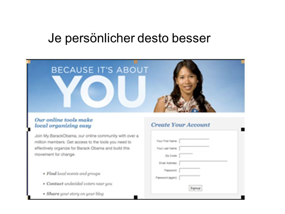 Je persönlicher desto besser