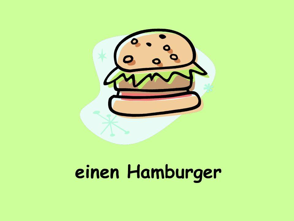 einen Hamburger