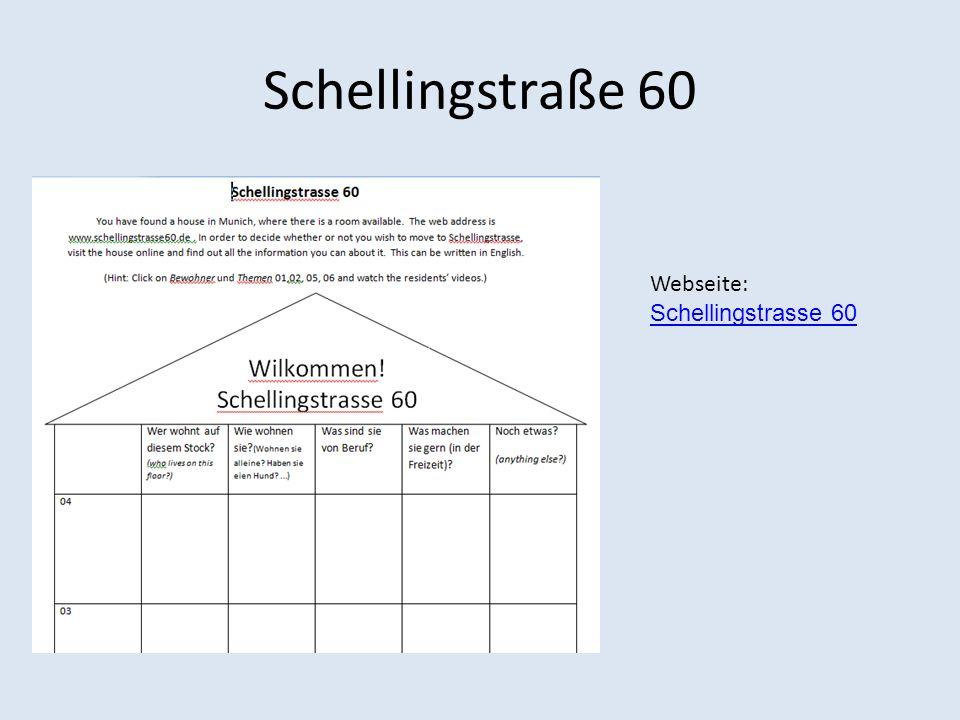 Schellingstraße 60 Webseite: Schellingstrasse 60