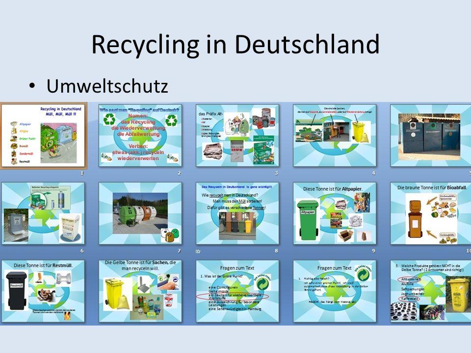 Recycling in Deutschland Umweltschutz
