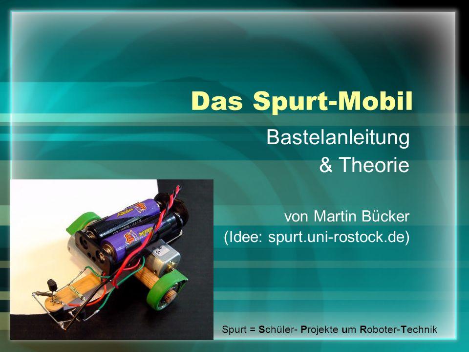Übersicht Bastelanleitung Bauteile-/Werkzeugliste Theorie Formel Spurt