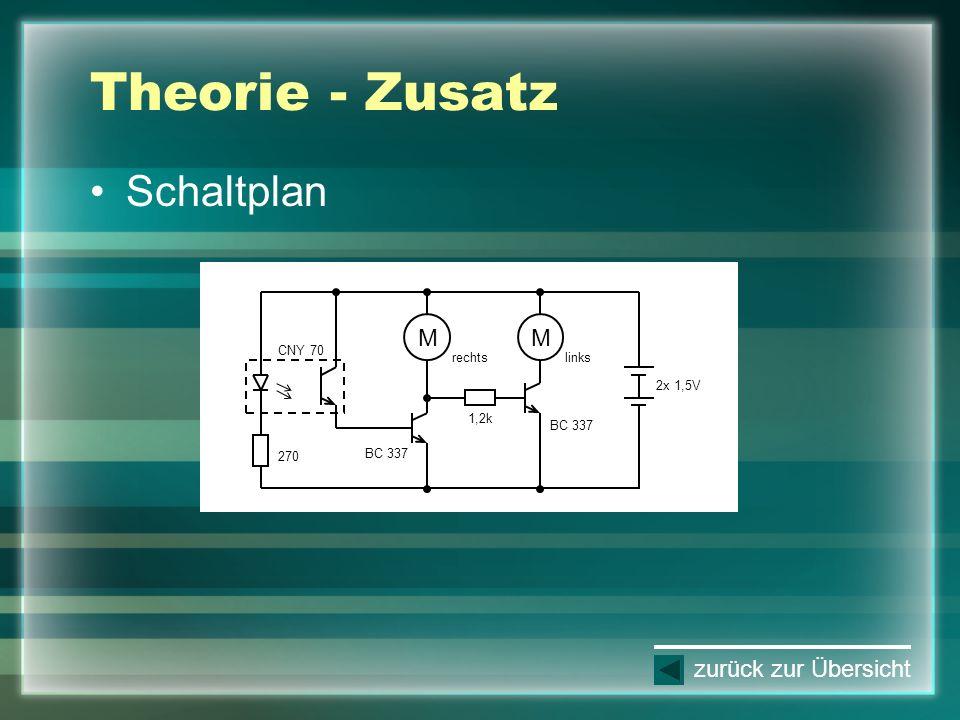 Theorie - Zusatz Schaltplan zurück zur Übersicht 2x 1,5V 270 CNY 70 M rechts M links 1,2k BC 337