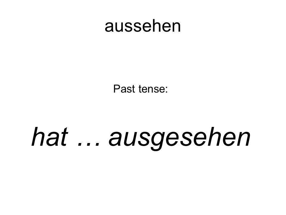 Past tense: hat … ausgesehen