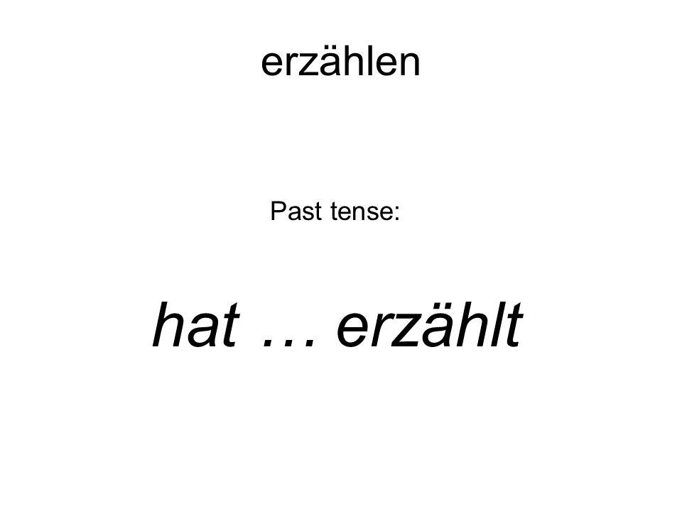 Past tense: hat … erzählt