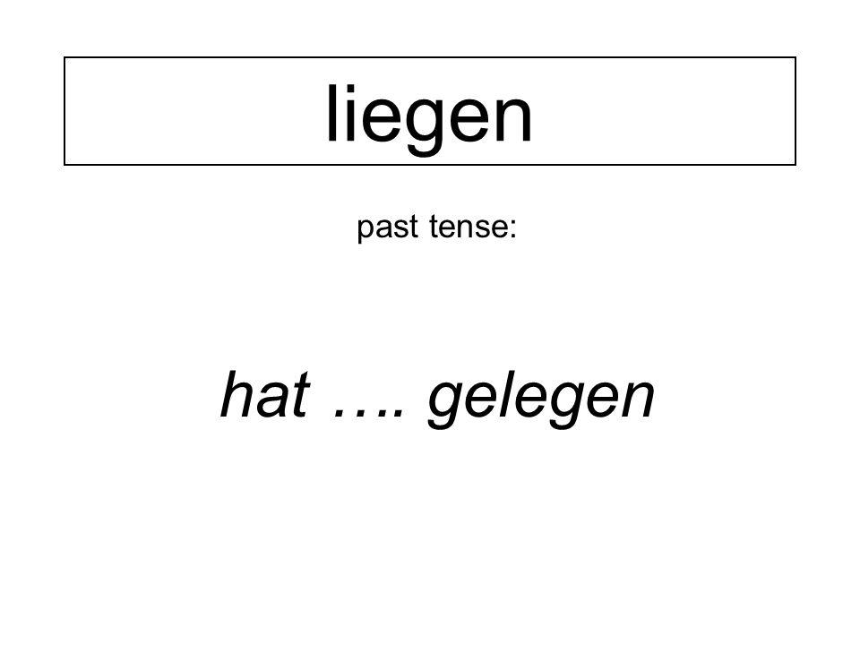 past tense: hat …. gelegen liegen