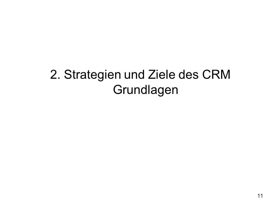11 2. Strategien und Ziele des CRM Grundlagen