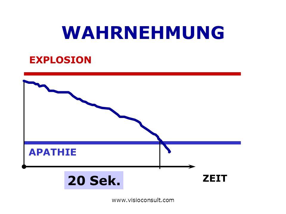 www.visioconsult.com WAHRNEHMUNG EXPLOSION APATHIE ZEIT 20 Sek.